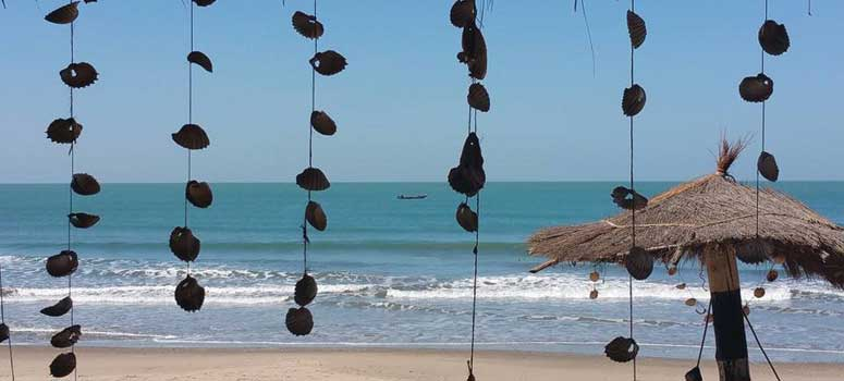Tinting utsikt på strand