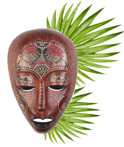 Tinting grafikk maske palme